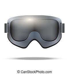 Classic snowboarding goggles