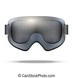 Classic snowboarding goggles