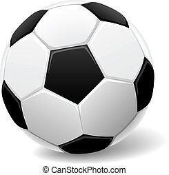 Classic soccer ball - Black and white classic soccer ball ...