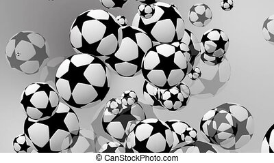 Classic soccer balls with stars