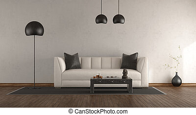 Classic sofa in a white room