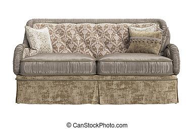 Classic sofa on white background