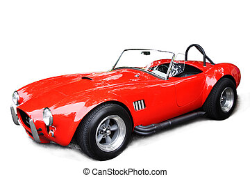 Classic sport car - An isolated shot of a classic red sport...