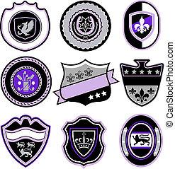 classic sport emblem badge shield