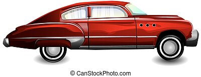 Classic sports car, illustration
