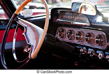 Classic Sports Car Interior