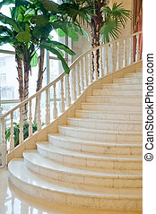 Classic staircase in a luxury room