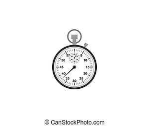 Classic stopwatch on a white background. Vector illustration.