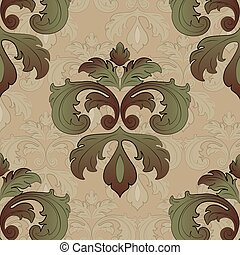 Classic style floral pattern