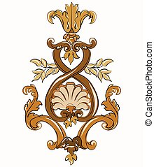 Classic style wooden ornament