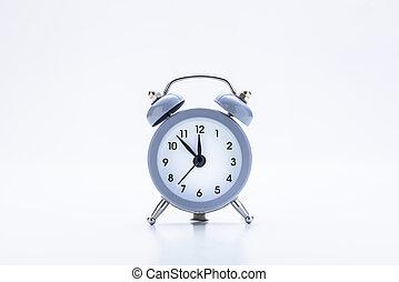 Table Alarm Clock on White - Classic Table Alarm Clock on ...