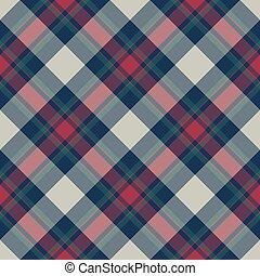 Classic tartan plaid seamless pattern. Flat design. Vector...
