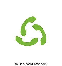 classic telephone circle logo vector