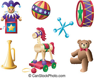 Classic Toys 2 - A palette of classic toys from yesteryear.