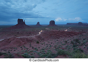 Classic view of Monument Valley