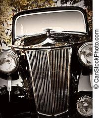 Classic vintage car - Close up shot of a vintage car