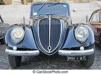 Classic vintage cars - VERONA, ITALY - JANUARY 6: Classic...