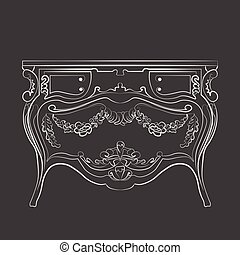 Classic vintage commode furniture