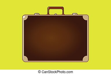 Classic vintage luggage suit case for travel