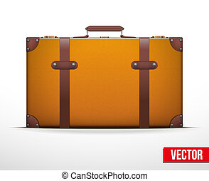 Classic vintage luggage suitcase for travel
