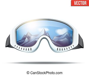 Classic vintage old school ski goggles