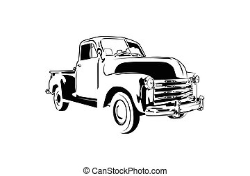 classic vintage retro car , vector design