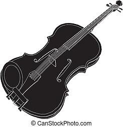 Classic Violin Vector