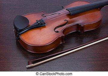 classic violin closeup