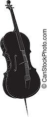 Classic Violoncello Vector