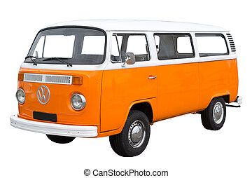 Volkswagen Bus - Classic Volkswagen Bus isolated on white