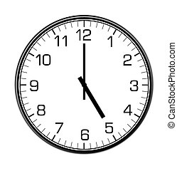 classic wall clock on the wall