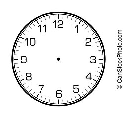 classic wall clock on the wall - classic wall clock on on...
