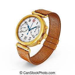 classic watch isolated on a white background