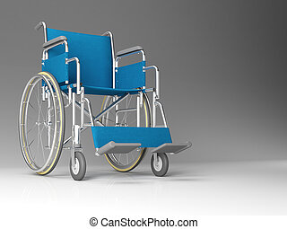 wheelchair - classic wheelchair 3d image background