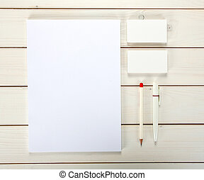 Classic white corporate identity template design. Business stationery.