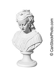 marble statue woman on a white background