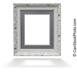 Classic white wooden frame isolated