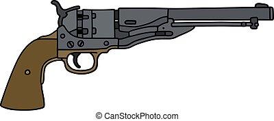 Classic Wild West revolver