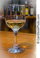 wine testing - classic wine testing in winery