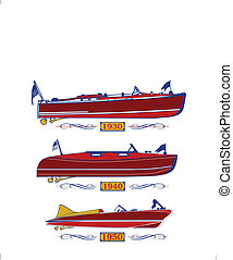 3 decades of wooden boats and years that they were in style