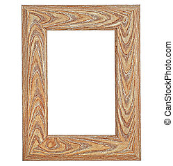 Classic wooden frame isolated on a white background