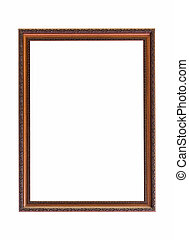 Classic wooden frame on white