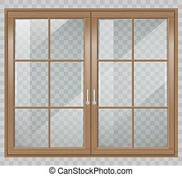 Classic wooden window