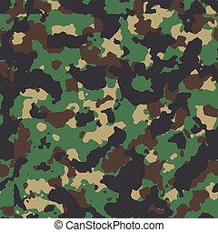 Classic woodland seamless vector camo pattern