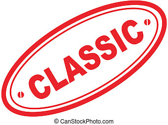classic word stamp5 - classic in vector format
