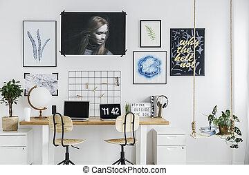 Classic working area interior