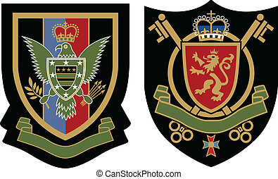classic wreath emblem badge