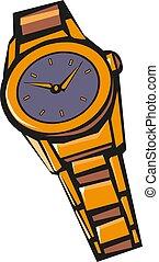 Classic wrist watch vector illustration eps 10