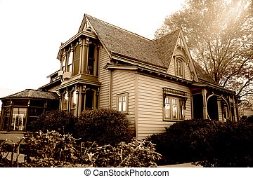 classical american home of end 19 century