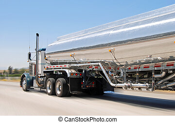 Classical american petrol truck